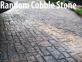 Desain Stamped Concrete Random Cobble Stone