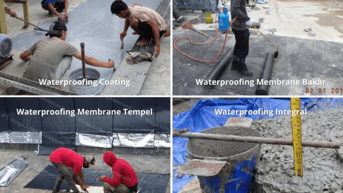 Jenis-jenis Harga Waterproofing Per M2