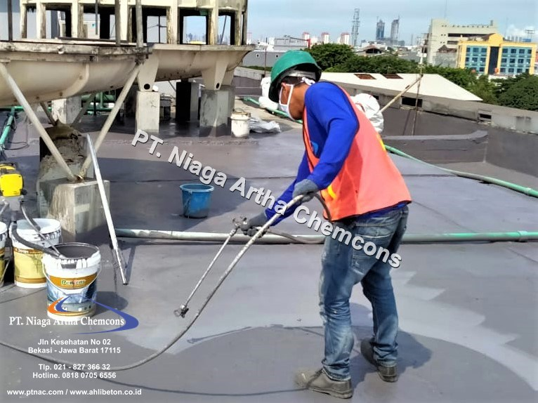 Proses Pengaplikasian Waterproofing Spray