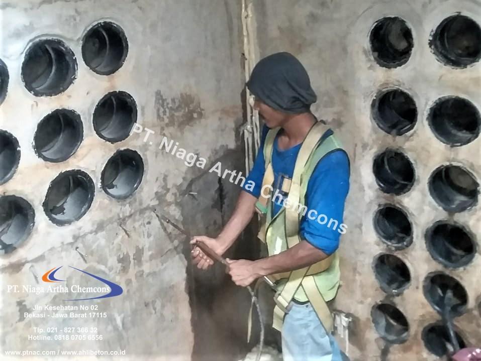 Repair Bocor Beton Dengan Injeksi
